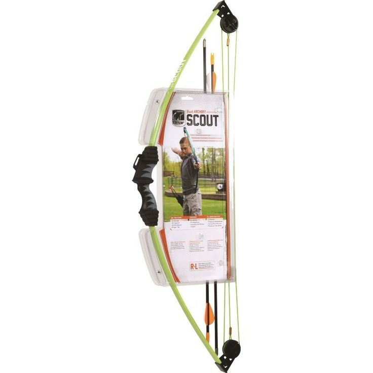 Bear Archery Scout Youth Compound Bow Package, Green