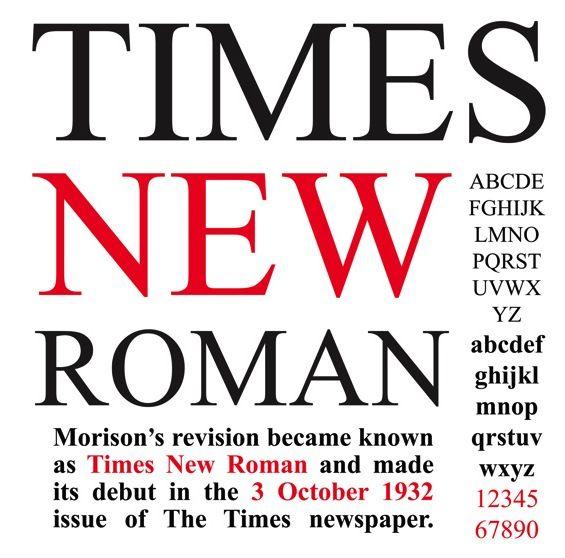 stanley morison : times new roman : 1932