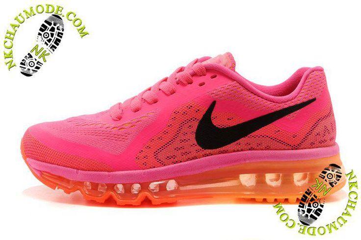 Air Max 2014 Femme Rose Clair/Orange chaussures running nike soldes