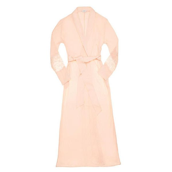 La Perla Begonia Long Robe ($268) ❤ liked on Polyvore featuring intimates, robes, short robe, lingerie robe, long lingerie, la perla lingerie and short dressing gown