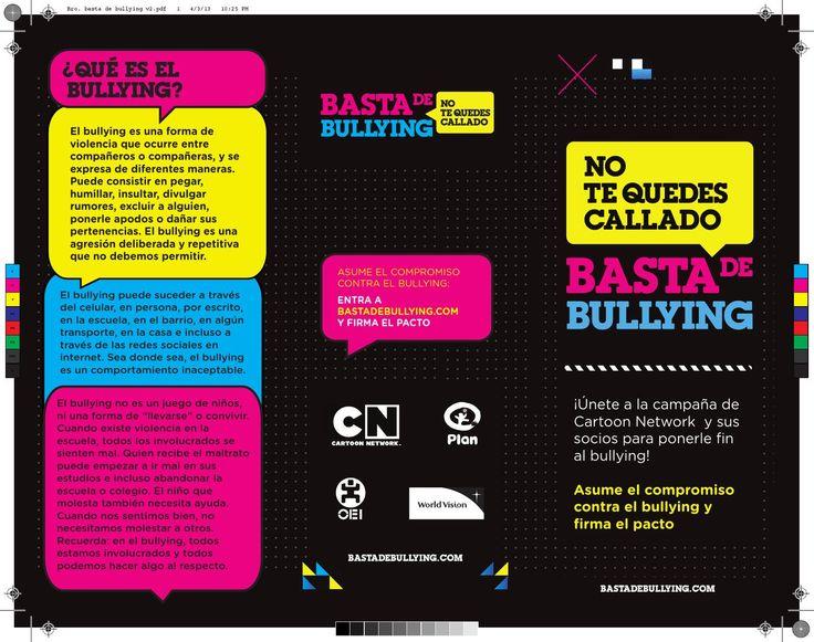 tripticos del bullying en word - Buscar con Google
