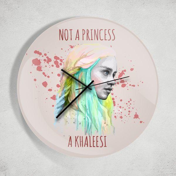 Game of Thrones Not A Princess A Khaleesi Duvar Saati Zet.com'da 49.90 TL