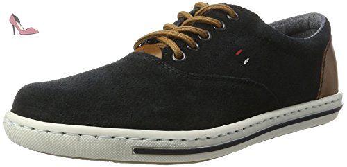 Rieker 19010, Sneakers Basses Homme, Bleu (Pazifik/Amaretto / 14), 46 EU - Chaussures rieker (*Partner-Link)