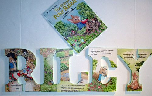 Decoupage Letters Using a Picture Book