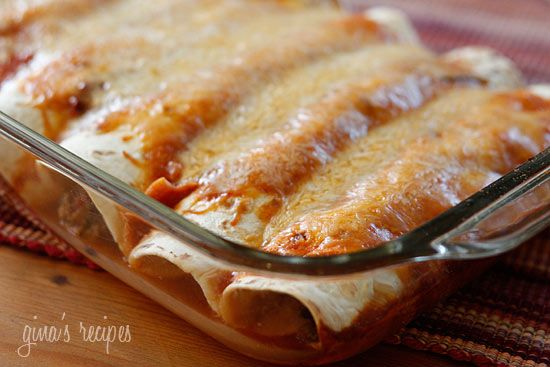 Turkey and Black Bean Enchiladas | Skinnytaste. Just made them And cant wait to try them....okay, I was tasting during the whole process and it's YUMMY!!