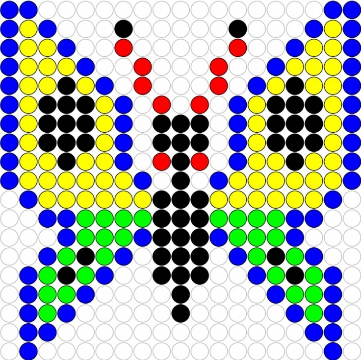Butterfly hama perler beads pattern