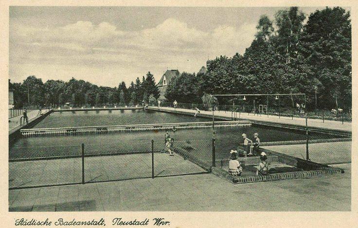 Lata 1927-1932 , Basen kąpielowy w Wejherowie.
