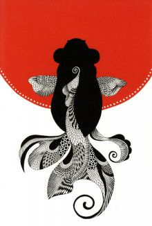 ゼンタングルの模様アイデア 金魚