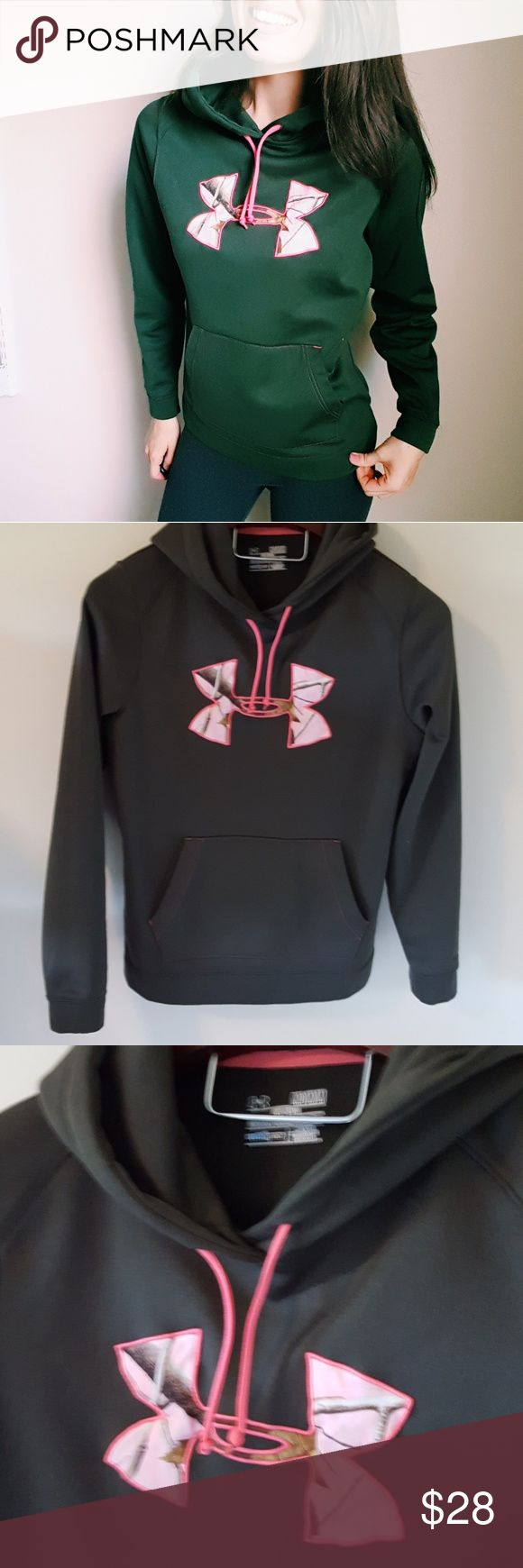 Under Armour | women's green and pink hoodie | M In excellent condition! Under Armour womens green and pink hoodie. Soft and so Warm! Bundle up! Offers always welcome:) Under Armour Tops Sweatshirts & Hoodies