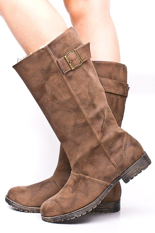 TAN MID CALF BOOTS--super cute, currently $16 with limited shoe sizes.