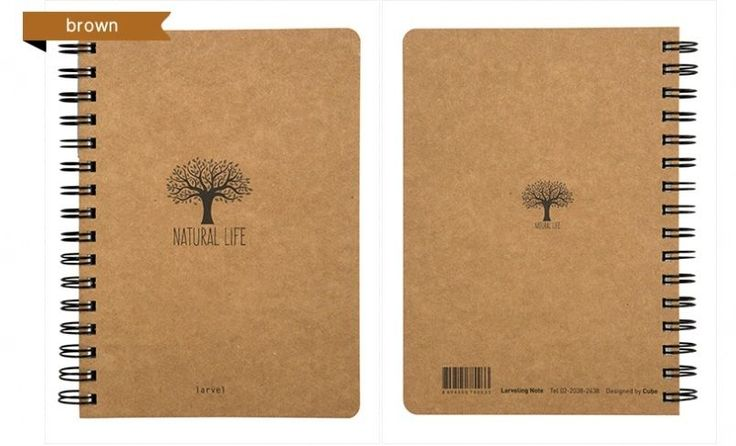 Moior Larveling Note 3 (Naturalism: Tree) Notebook Stationary Exercise Book #Moior