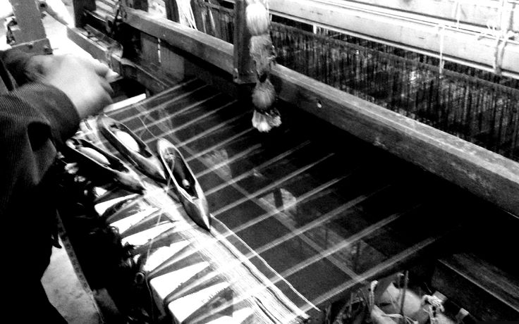 Our Handloom. A handloom is a simple machine used for weaving. In a wooden vertical-shaft looms, the heddles are fixed in place in the shaft. The warp threads pass alternately through a heddle, and through a space between the heddles, so that raising the shaft raises half the threads (those passing through the heddles), and lowering the shaft lowers the same threads - the threads passing through the spaces between the heddles remain in place. #MadeInNepal #FromHereWeGoSublime…