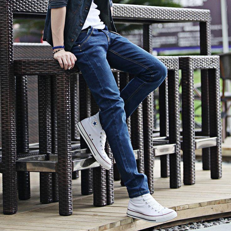 2016 лето autum мужская современный гарем джинсы корейский стиль карандаш брюки молодежная мода креста брюки плюс