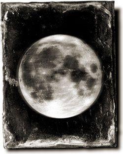 Callotype of the Moon taken through the Craig Telecsope, 6 September 1854