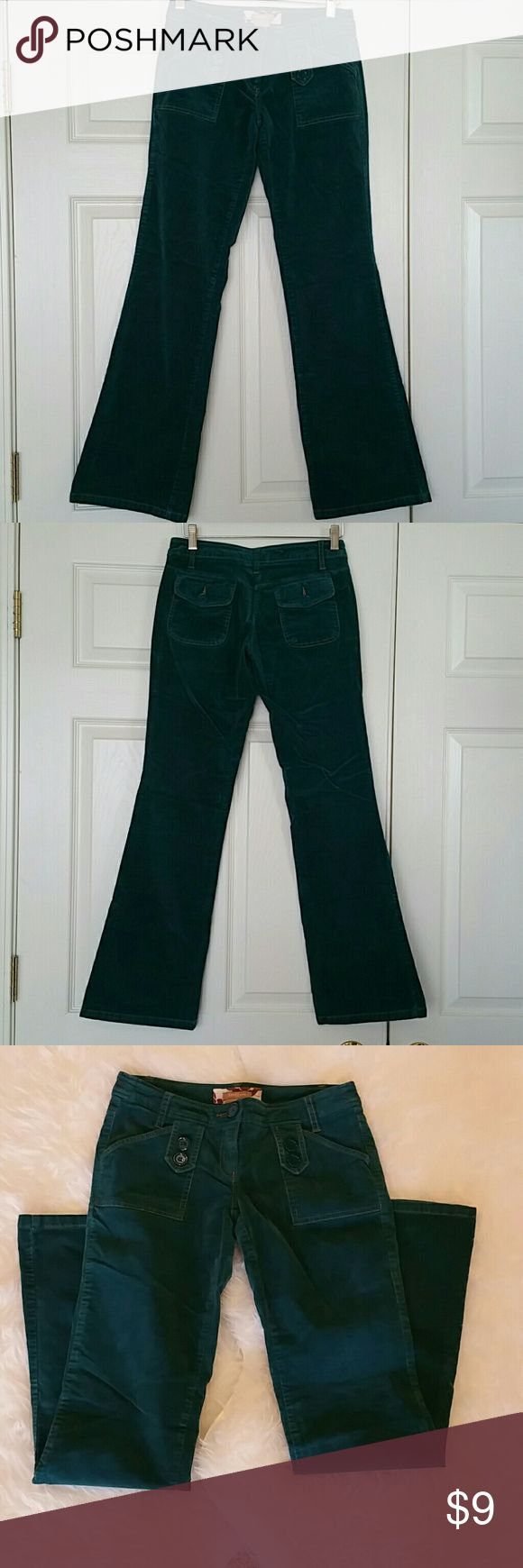 "BOGO Forever 21 Cord Jeans Forever 21 Cord Jeans.  Dark green with brown stiching. 97% cotton,  3% spandex. 31"" inseam.   BUY ONE GET ONE EQUAL OR LESSER PRICE ITEM FOR FREE.  OFFER ONLY APPLIES IF BOTH ITEMS ARE ON BOGO PROMO. Forever 21 Jeans Boot Cut"