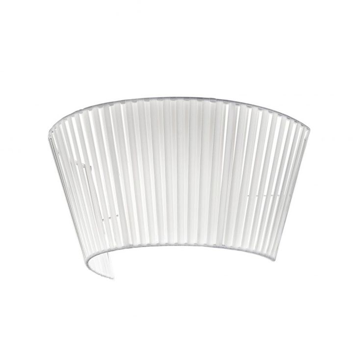 Wall Light with White Ribbon Shade and Glass Diffuser | RS Robertson