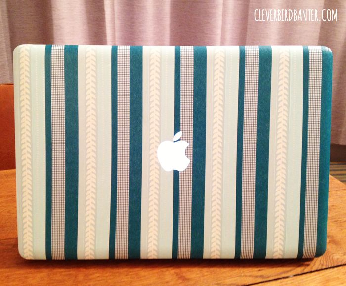 I washi taped my Macbook Pro… | Clever Bird Banter