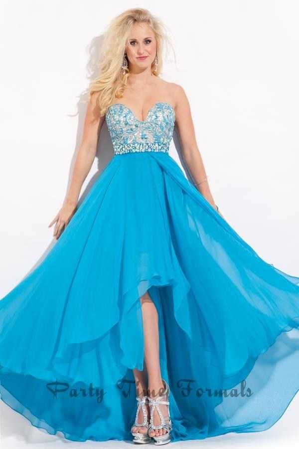 Dazzling Beaded Rachel Allan 6551 High Low Prom Dresses 2017
