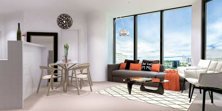 New apartment floor layouts giving larger floor areas. All bedrooms and living rooms face out to the view. No internal bedrooms. Pinnacle Apartments - 18 Saint Martins Lane, Auckland