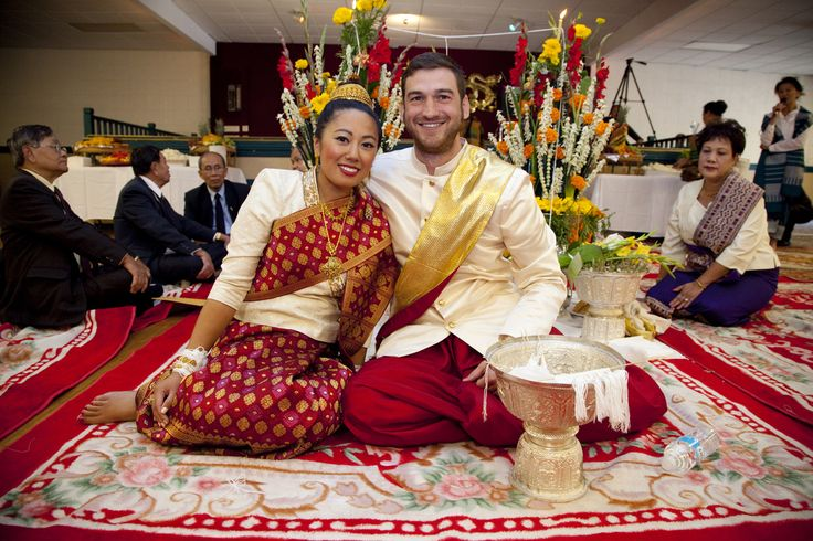 Take A Look At Traditional Wedding Outfits From Around The: Lao Wedding Ceremony Soukhouane