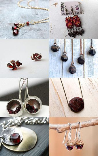 Luxury Garnet by Maria on Etsy--Pinned with TreasuryPin.com