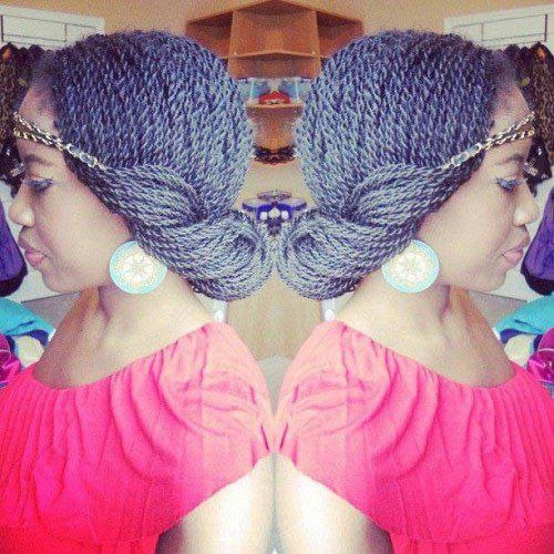 40 Senegalese Twist Hairstyles for Black Women | herinterest.com/