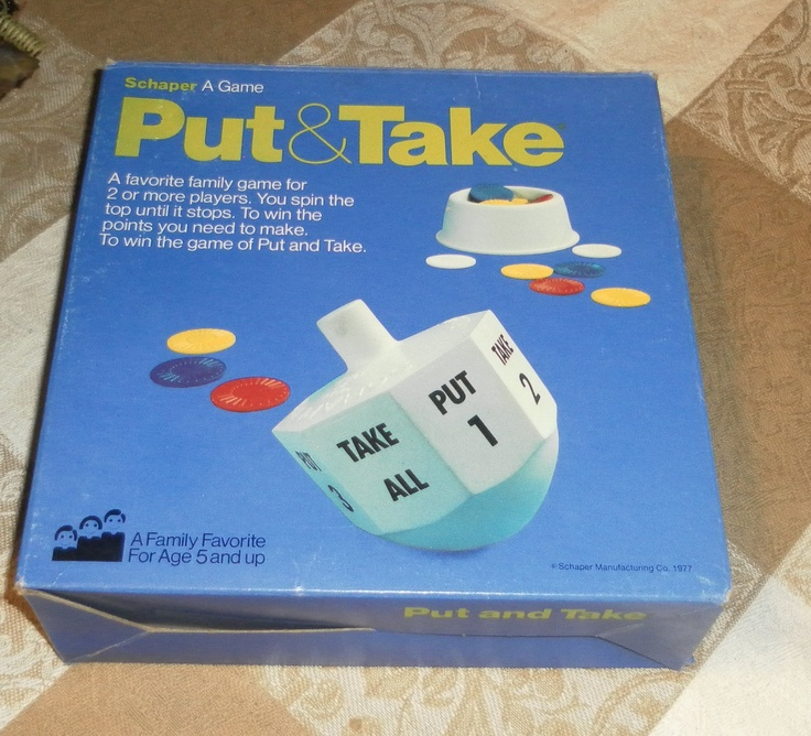 Put & Take Game by Schaper (1977)Families Games, Family Games
