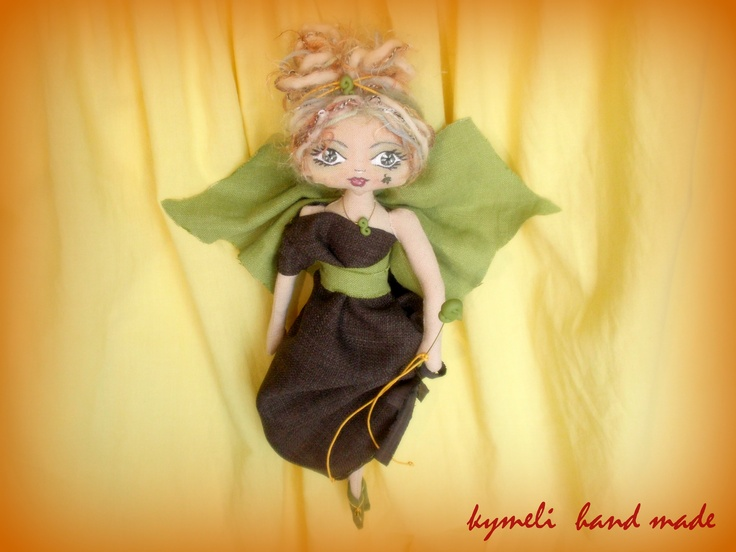 'Forest Fairy' OOAK Art Doll by kymeli