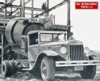 1938 A-8 International HD Model and cement mixer.