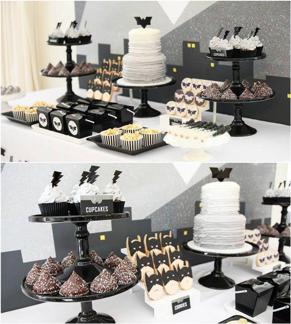 Modern Batman Birthday Party   Pretty My Party