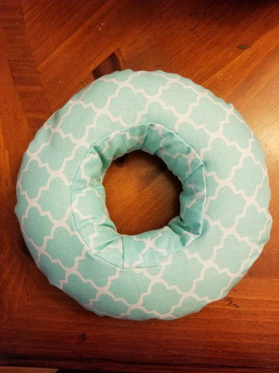 Ear Pillow Piercing Pillow Earbud Pillow Ear Donut Aqua Trellis Pillows Travel Pillow Piercings