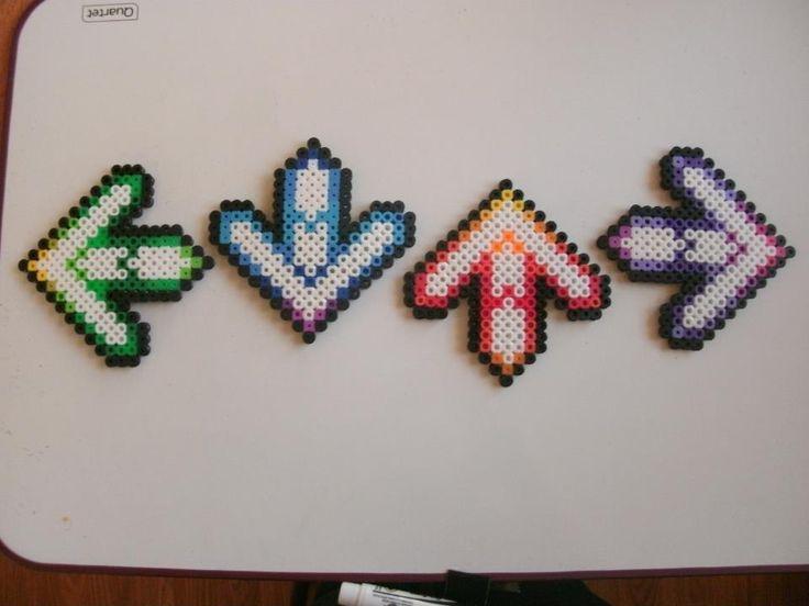 Perler Beads craft DDR arrows Dance Dance Revolution Like!