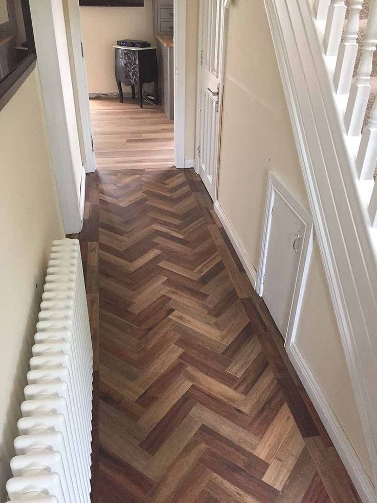 Contrasting Dark And Honey Coloured Wood Effect Porcelain