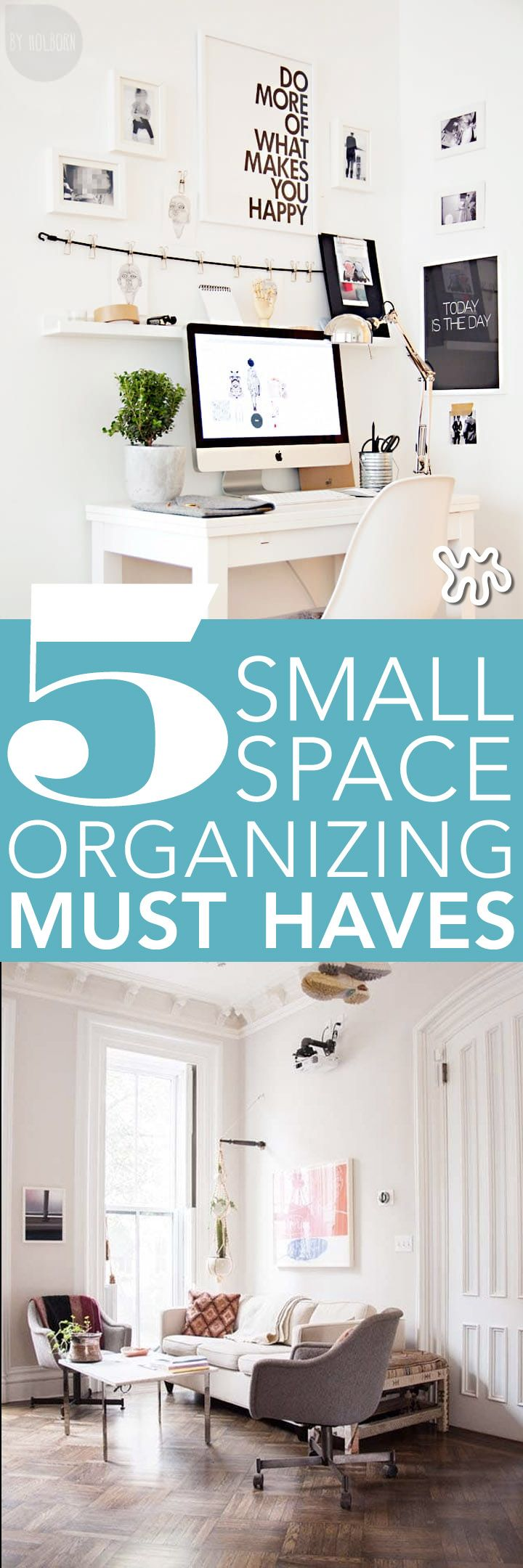 Living in a small space can be fun and rewarding. When you have fewer things to weigh you down, carefully-chosen items that you love by necessity, and you also learn to live within your means. It can also be a pain in the backside, to be perfectly honest. Keeping a tiny home neat and organized takes effort, but it's doable. Here are 5 storage and organizing tips and tricks for small spaces.