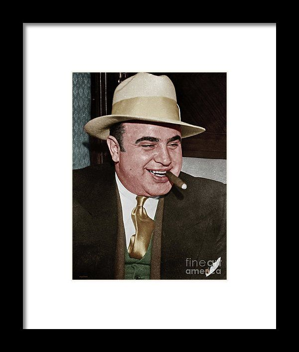 Al Capone Scarface Mafia Crime Boss 20170628 Framed Print by Wingsdomain Art and Photography