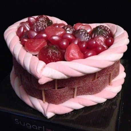 Heart Sweet cakes available in various sizes, all handmade to order 100% sweets