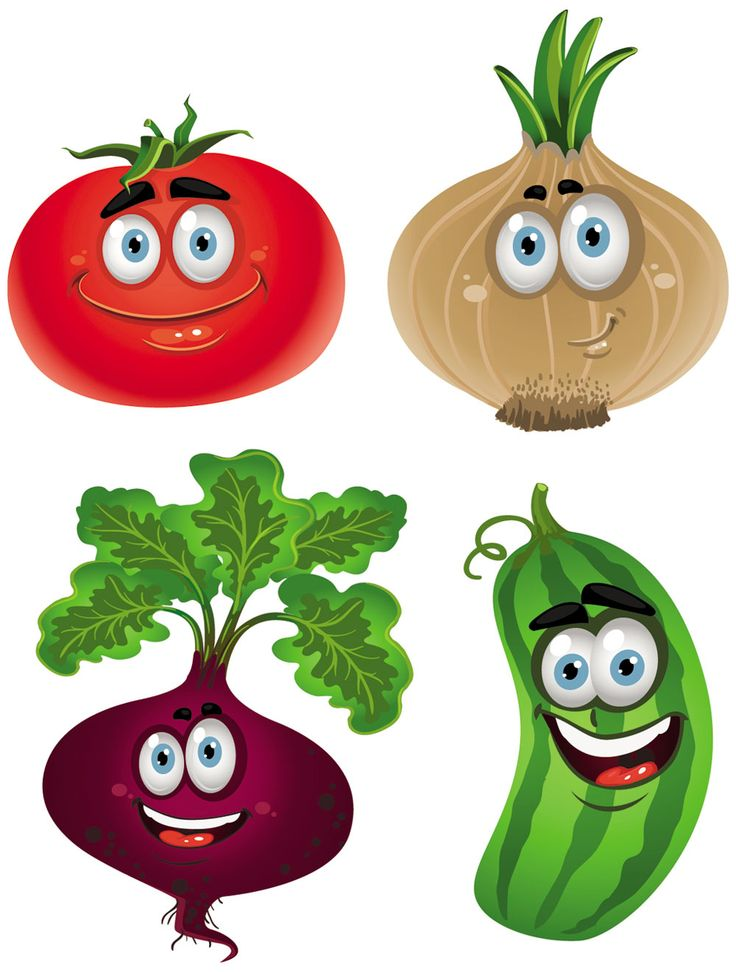 Funny Cartoon Fruits And Vegetables | Vegetable cartoon image vector-5…