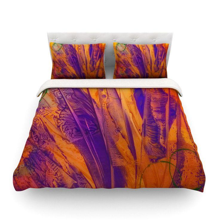 17 best ideas about purple comforter on pinterest plum - Orange and purple bedding ...