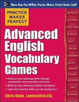 Take your English vocabulary to an advanced level with games, games, games! Beat the boredom of language drills and rev up your English language learning with Practice Makes Perfect: Advanced English