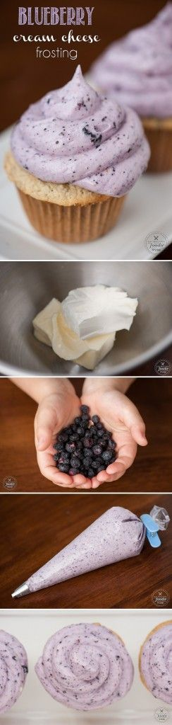 Add freeze dried blueberries to an already delicious cream cheese frosting & create a tasty Blueberry Cream Cheese Frosting perfect for any kind of cake.