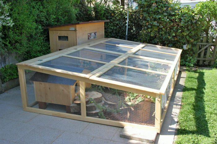 Ideen und Tipps für Aussengehege auf der Terrasse