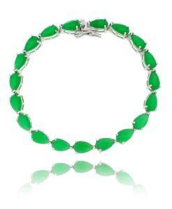 pulseira riviera gota esmeralda semi joias online