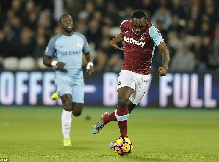Michail Antonio, the versatile West Ham star, looks to use his pace to create an attack during the opening stages of this match