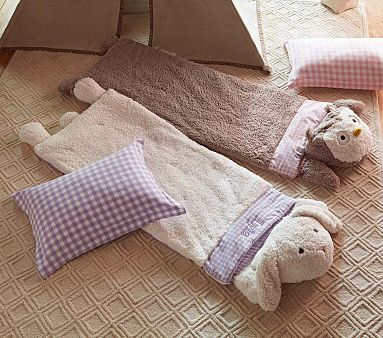 Sherpa Sleeping Bags #PotteryBarnKids  Love these!