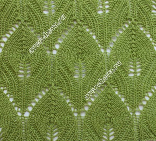 Knitting Pattern Leaf : leaf lace knit pattern Leaf lace stitch knitting patterns Pinterest Pat...