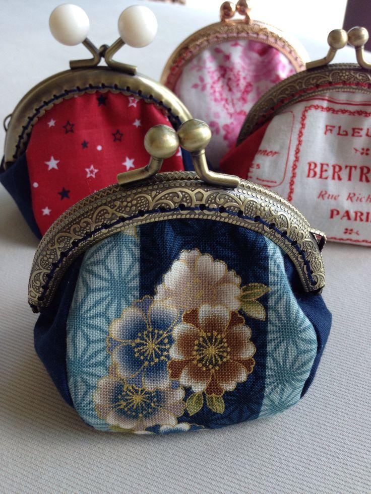 Handmade metal frame coin purse.