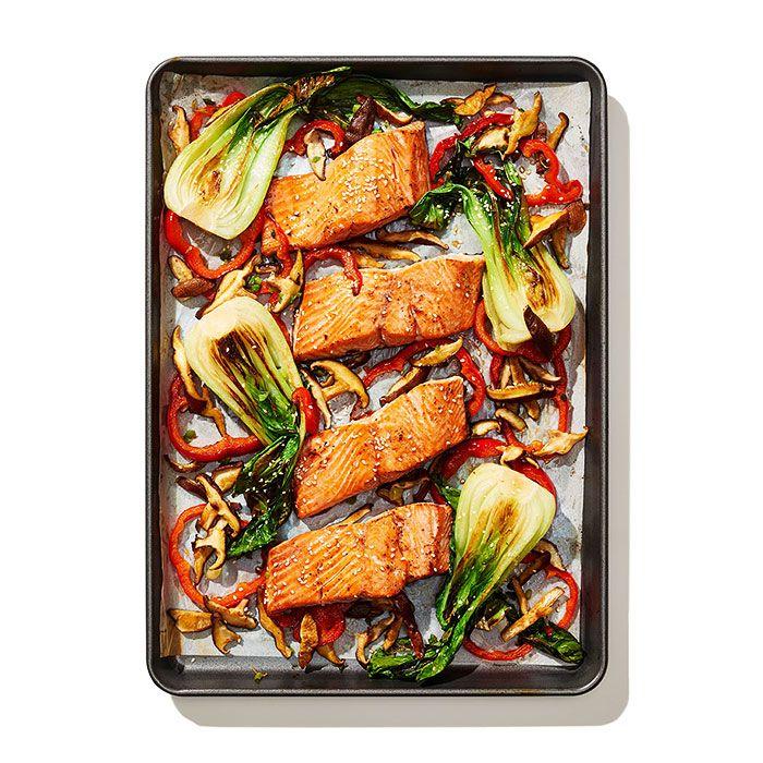Miso-Glazed Salmon and Bok Choy - Shape.com