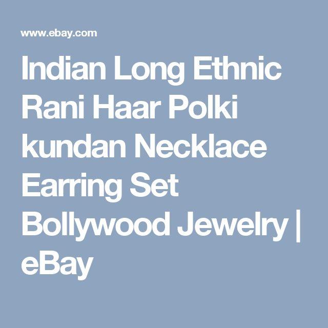 Indian Long Ethnic Rani Haar Polki kundan Necklace Earring Set Bollywood Jewelry  | eBay