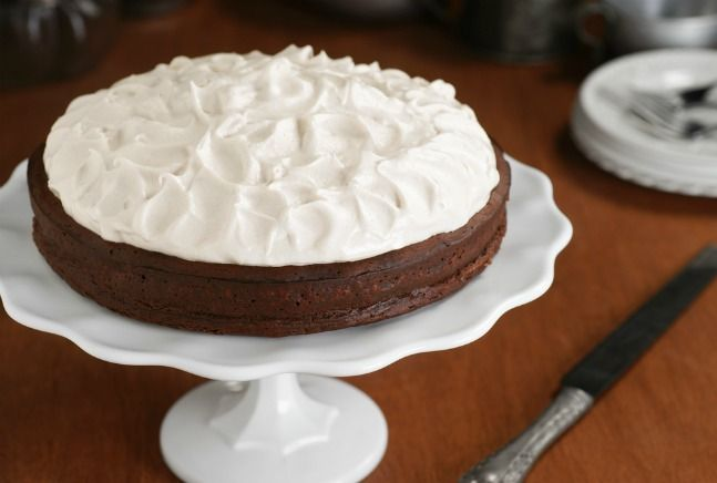 flourless chocolate cake - I wonder if it would work to sub coconut ...