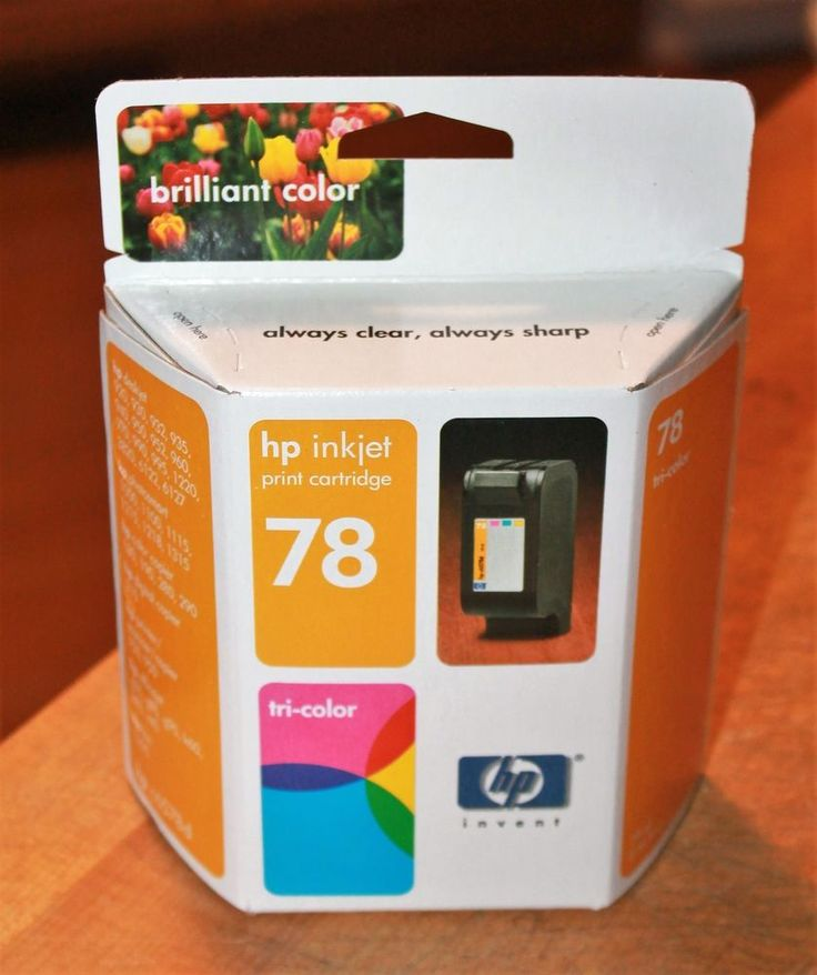 HP Inkjet Ink 78 Tri Color NIB New Old Stock 2004 Expiration #HP